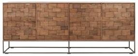 Must Living Blockx Houten Dressoir Mozaiek 210 Cm - 210x45x80cm.