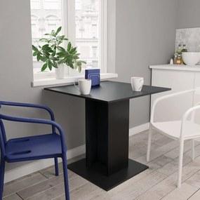 Eettafel 80x80x75 cm spaanplaat zwart