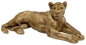 Kare Design Lion Gold Liggende Leeuw Goud