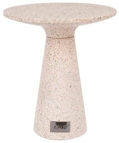 Zuiver Victoria Pink Terrazzo Bijzettafel Rond - Roze - 41 X 41cm.