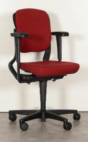 Bureaustoel 230, bordeaux rood, 4D armleggers