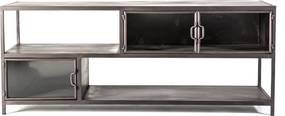 By-Boo Ventana TV-dressoir Metaal En Glas - 150x47x60cm.