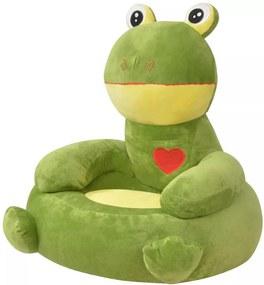 Pluche kinderstoel kikker groen
