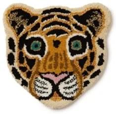 Doing Goods Cloudy Tiger Head voetenkleed 32 x 30 cm