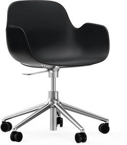 Normann Copenhagen Form Armchair Bureaustoel Met Aluminium Onderstel Zwart