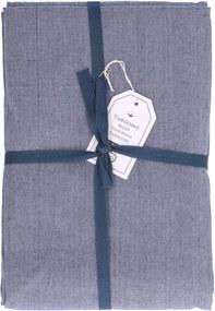 Tafelkleed, katoen, blauw gemêleerd, Ø 180 cm