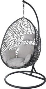 Egg Hangstoel cocoon relax zwart