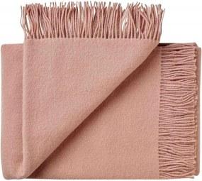 Plaid wol: effen, roze, fawn
