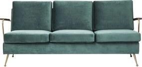 Kare Design Gamble Retro Turquoise 3-zitsbank