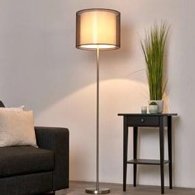 Nica - vloerlamp met stoffen kap in bruin - lampen-24