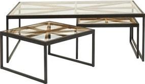 Kare Design Beam Industriele Salontafelset - 110 X 70cm.