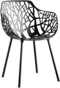 Fast Forest Armchair tuinstoel Metallic Grey set van 4