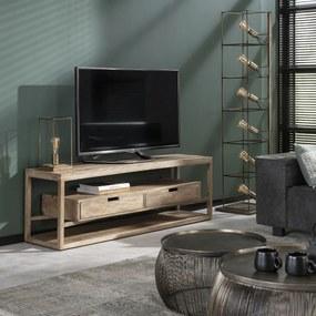 Massief Mangohouten Tv-meubel - 140x35x45cm.