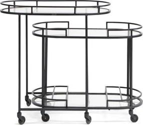 Rivièra Maison - Savile Row Bar Cart S/2 black