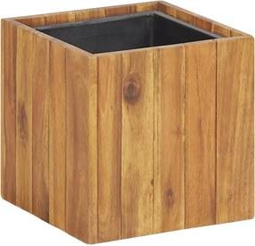Plantenbak verhoogd 24,5x24,5x24,5 cm massief acaciahout