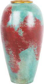 Decoratieve vaas rood/mintgroen CARTEIA