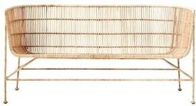 Bank Coon Ijzer/Rattan 140 x 65,5 cm - Bruin