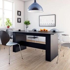 Eettafel 180x90x76 cm spaanplaat zwart