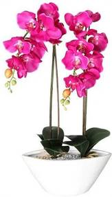 Deco-orchidee van textiel en kunststof
