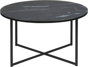 Ronde Salontafel 'Cay' 80cm, kleur zwart