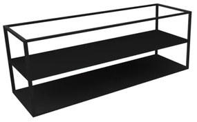 Royal plaza Merlot frame met bodemplaat 140x45 mat zwart