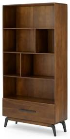 Lucien boekenkast, donker mangohout