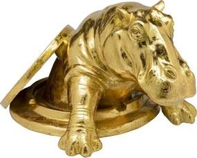 Kare Design Struggling Rhino Nijlpaard Uit Putdeksel Goud