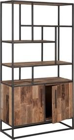 D-Bodhi Urban Open Wandkast Teak - 100x40x180cm.