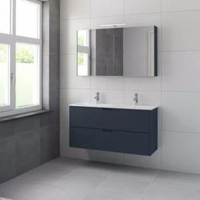 Bruynzeel Karo meubelset met spiegelkast 120cm 2 kraangaten oud blauw 227095k