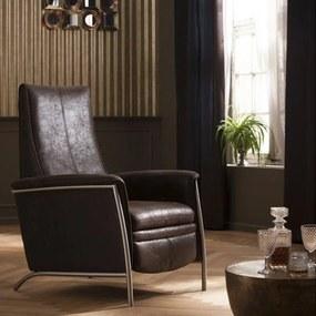 Kare Design Lazy Verstelbare Bruine Fauteuil