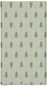 Tafelkleed Papier 138x220 Groen Met Dennenbomen