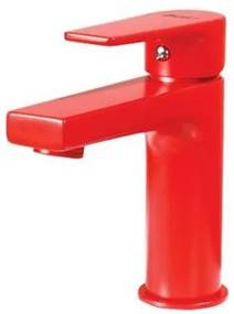 Creavit Sharp wastafelmengkraan met waterbesparing rood
