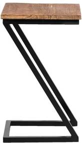 Bijzettafel Ravenna - zwart/naturel - 50x30x30 cm - Leen Bakker