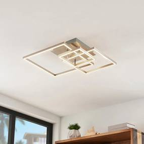 Katianna LED plafondlamp van 3 vierkanten - lampen-24