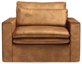 Rivièra Maison - Continental Love Seat, velvet, cognac - Kleur: bruin