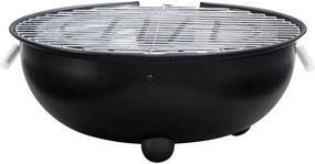 Elektrische barbecue tafelmodel - zwart - 33x34x11,5 cm - Leen Bakker