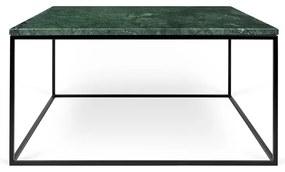 TemaHome Gleam Marble Salontafel Groen Marmer 75 Cm - Zwart Onderstel - 75 X 75cm.