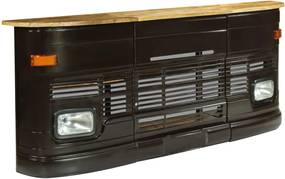 Bartafel vrachtwagen massief mangohout donkergrijs