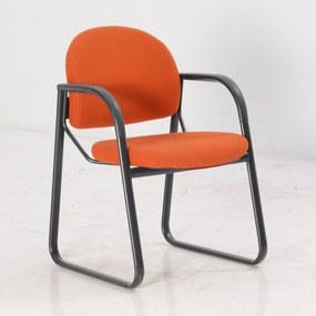 4201 vergaderstoel, oranje, slede frame