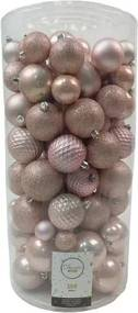 Kerstballen Mix 100 st. - Blush pink