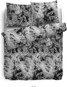Heckett & Lane dekbedovertrek Buck - grijs - 240x220 cm - Leen Bakker