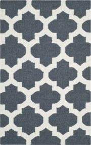 Safavieh | Handgeweven vloerkleed Salé Dhurrie 90 x 150 cm blauw, ivoor vloerkleden wol, katoen vloerkleden & woontextiel | NADUVI outlet