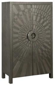 Zilveren Wandkast - 90x45x150cm.