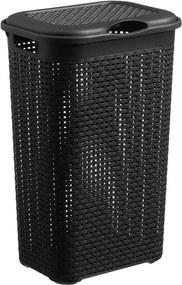 Wasbox Rattan Antraciet 50 Liter