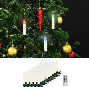 LED-kaarsen kerst draadloos met afstandsbediening 50 st RGB