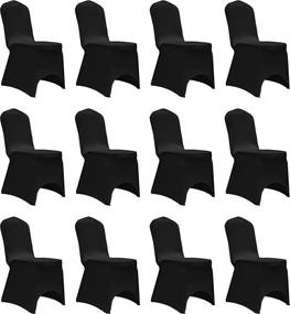 Stoelhoezen stretch 12 st zwart