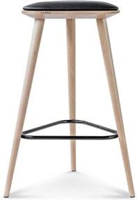 Fameg Finn - Houten barkruk - 61 cm hoog- Drie poten - Scandinavisch - Met kussen - 65 cm hoog - Design