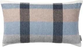 Kussen blauw, wit, grijs, ruiten, alpaca wol: Intersection Met binnenkussen 50 x 30 cm