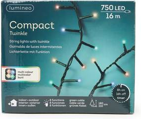 Lumineo Compact Twinkle kleur LED-verlichting 16 m