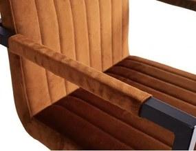 4uDesigned | Armstoel Almere breedte 53 cm x diepte 55.5 cm x hoogte 91 cm x zithoogte groen armleunstoelen velvet, metaal | NADUVI outlet
